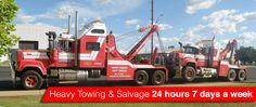 Heavy Towing and Salvage - 24hrs a day, 7 days a week, 365 days a year