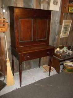 chestnut plantation desk hidden compartment under top 34.5x20x61 ~ $350 Letchworth Barn Antiques Mount Morris New York