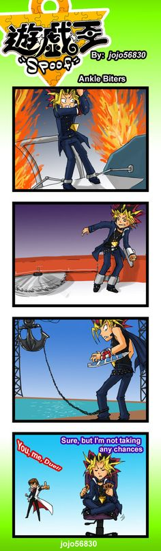 His poor ankles.... X3  Yu-Gi-Oh!  YGO Spoof: Anklebiters by jojo56830.deviantart.com on @deviantART