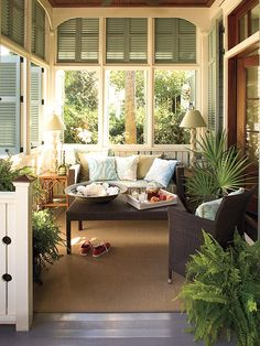 Love the shutters. They would provide so many options for light, air, privacy.
