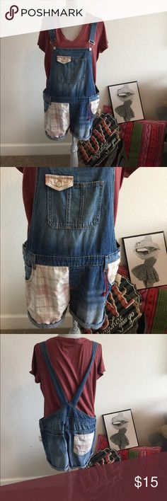 NWT's lei short overalls and mossimo t-shirt NWT's lei jr. short overalls XL  and mossimo t-shirt XL lei Jeans Overalls