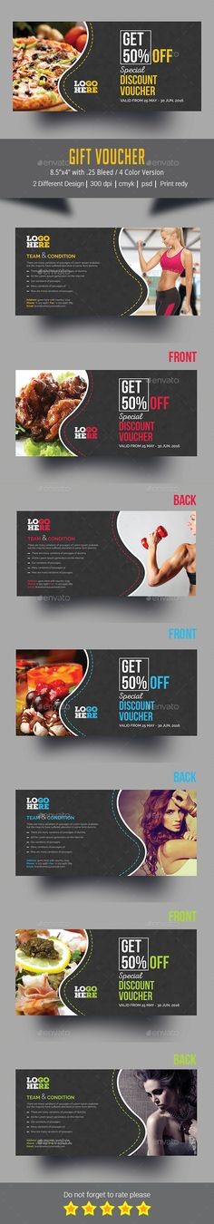 Gift Voucher #photoshop #psd #gift voucher template #voucher • Download ➝ https://graphicriver.net/item/gift-voucher/18750126?ref=pxcr