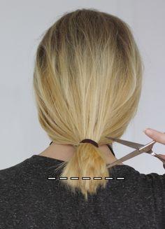 Haare selber schneiden spliss
