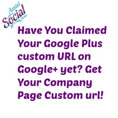 Have you claimed your Google Plus Business page? http://AssistSocialMedia.com #GooglePlus