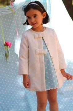 """Abrigo para niña modelo """"Verde Mar"""". #modainfantil   nenecanela.com"""
