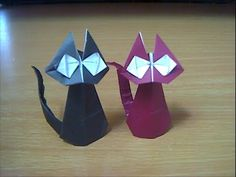 gato. cat from 1 square, pleat to 1/8