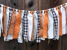 READY TO SHIP Fall Garland Thanksgiving Garland Rag Tie