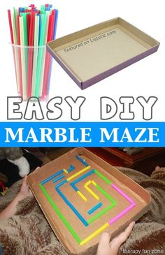 Of The BEST Crafts For Kids To Make (projects for boys & girls!) DIY Marble Maze -- 29 of the MOST creative crafts and activities for kids!DIY Marble Maze -- 29 of the MOST creative crafts and activities for kids! Crafts For Kids To Make, Easy Diy Crafts, Creative Crafts, Projects For Kids, Kids Crafts, Crafts Cheap, Kids Diy, Creative Ideas For Kids, Neon Crafts