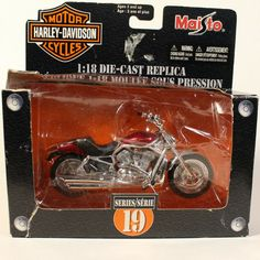 2004 Harley-Davidson VRSCA V-ROD Dark Red Maisto 1:18 Series 19 Die-Cast