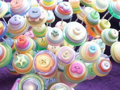 Pastel Button Flowers