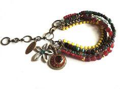 Gypsy hippie beaded bracelet