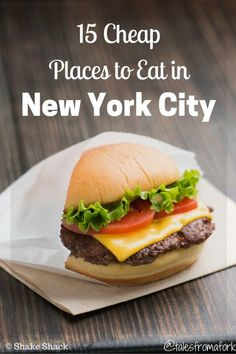 Do as the locals do and check out these 15 cheap places to eat in new york city by www.talesfromafork.com