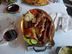 Croatian Mixed Grill Plate.