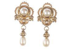 Christian Dior Etruscan Dangle Earrings