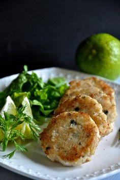 lime, cilantro, and lemongrass fish cakes (paleo, AIP, egg-free, primal, grain-free, dairy-free)