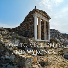 The fantastic island of Delos. Covered in the ruins of an ancient city. Walk through the streets of history. Mykonos, Santorini, Delos Greece, Vacation Memories, Ancient Ruins, Greece Travel, Athens, Travel Destinations, Exotic