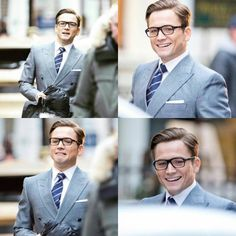 Taron Egerton on the set of kingsman. There are so many edits of this so I'll just do this one
