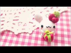 ❄ Holiday Bunny  ❄  Tutorial polymer clay charm <3