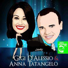 FattiDisegnare.com: Gigi D'Alessio & Anna Tatangelo