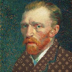 Look how good is Vincent Van Gogh wearing Louis Vuitton  by Marion Trumier ©  • Instagram : Mode.Arte • Facebook Mode.Arte • Tumblr : modearte.tumblr.com © Marion Trumier