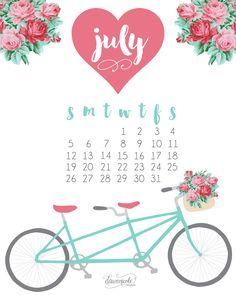 July Calendar 2016 Free Printable