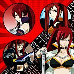 "Perfil hecho para mi página: Fairy Tail: Erza ""Titania"" Scarlet"