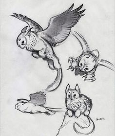 And Yet More Owl Griffin by RobtheDoodler on @DeviantArt