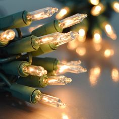 Clear Mini Heavy-Duty Light Strand - #stringlights #christmaslights #happyholidays