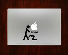 iBlow Humor Mac Funny Decals Stickers For Macbook 13 15 inch Pro Air Decal #RusticDecal