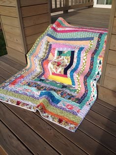 Giant Modern Log Cabin Quilt