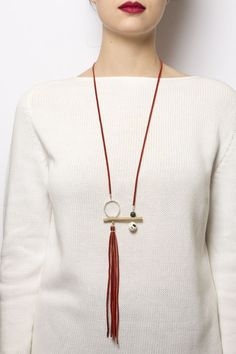 Long Tassel Statement Necklace
