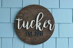 Family Established Sign, Last Name, Custom Wedding Gift, Housewarming Gift, 3D, Wedding Established Wall Hanging, 14 inch Round, rustic, farmhouse, home decor, diy decor, Christmas gift, wedding gift, home gift, couples gift, family name, last name sign, creative, diy, any color, outdoor sign , porch, home decor #afflink