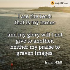 I am the Lord:that is my name...