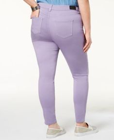 1cf4d39c381 Celebrity Pink Trendy Plus Size Colored Skinny Jeans - Purple 16W Plus Size  Skinny Jeans