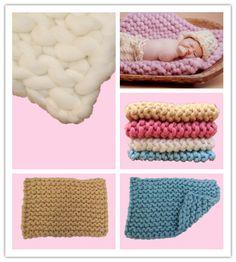 40*60cm Handwoven Soft Wool Blanket Basket Stuffer Filler Newborn Baby Photography Backdrops Photo Studio Props Shower Gift