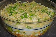 Fruchtig - pikanter Schichtsalat (Rezept mit Bild)   Chefkoch.de