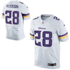 Nike Adrian Peterson Minnesota Vikings Elite Jersey – White Nfl Team Colors 902a32199