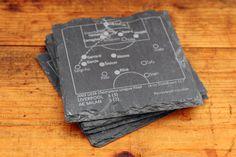 Liverpool Greatest Plays - Slate Coasters (Set of 4)