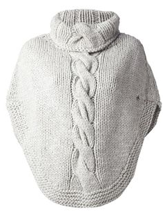 cute and comfy cable knit poncho