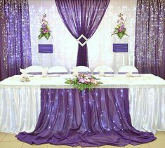 Best Wedding Table Decorations Purple Event Planning 56 Ideas Source by Quince Decorations, Quinceanera Decorations, Stage Decorations, Wedding Table Decorations, Decoration Table, Wedding Centerpieces, Table Wedding, Tall Centerpiece, Table Violet