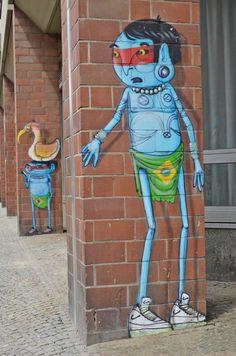 bildwob: Graffiti um die Ecke, Berlin