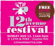 The annual 12th Avenue Neighborhood Festival features food, music and fun activities in Seattle's Capitol Hill neighborhood on August 12, 2012.