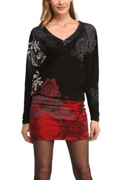 Desigual women's Kalima dress. A very comfortable knitted dress that's soft to the touch. You'll feel great with this on.