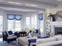 Blue and White Living Book Review | Southern Hospitality