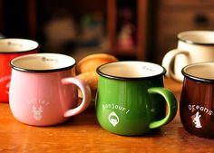 lovely ceramic mug of milk and coffee