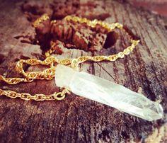 Minimalistic Crystal Quartz Necklace from Uncovet.com
