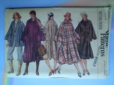 Hey, I found this really awesome Etsy listing at https://www.etsy.com/listing/209336270/vintage-70s-full-cape-coat-uncut-vogue