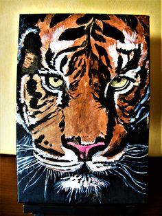 Duo Peinture de Tigre et Léopard,peinture animaux sauvages,portrait de tigre,Art animaux sauvages,Peinture animale,portrait de Léopard Labrador, Beauty In Art, Acrylic Painting Canvas, Animal Paintings, Handmade Shop, Art Market, Creative Gifts, Lovers Art, Eye Makeup