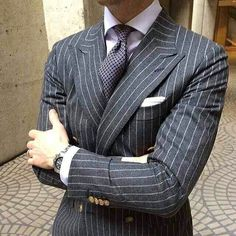 Very nice, loving the grey flannel pinstripe and the watch