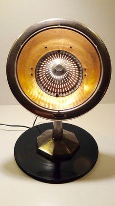 Lampe Chauffage Sauria années 50 Look Vintage Atelier transformé en lampe : Luminaires par ericecile44